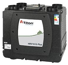 Rekuperatorius TITON HRV10 Q Plus BC Eco 399m3/h@100Pa dešininis